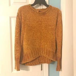 Orange chenille sweater